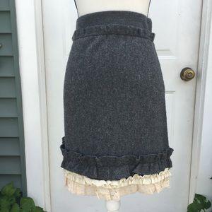 Girls From Savoy Tria Sweater Merino Wool Skirt